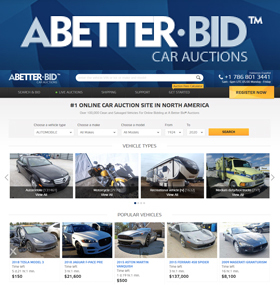 A Better Bid® is an online car auction with more than 100,000+ vehicles on sale every day. Find and bid on clean title and salvage title cars, pickup trucks, electric cars, luxury cars, SUVs, ATVs, motorcycles and boats — all without the need for a dealer license. A Better Bid® is a registered Copart Auto Auction broker.