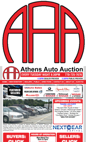Athens Auto Auction, we look forward to serving you with over the top service for all of your purchasing and selling needs.