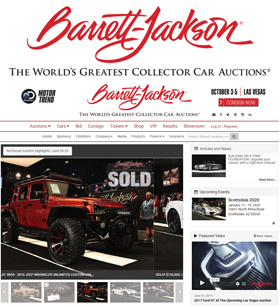Established in 1971 and headquartered in Scottsdale, Arizona, Barrett-Jackson, The World's Greatest Collector Car Auctions®, is the leader in collector car auctions and automotive lifestyle events.