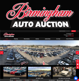 Birmingham Auto Auction can help you sell your vehicle! Hundreds of buyers walk the lot and monitor our website each week looking for all kinds of vehicles such as cars, trucks, SUVs, work vans, motorcycles, golf carts, boats, camper and more! We can handle every stage necessary to sell your vehicle.