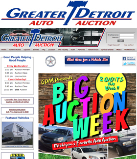 Greater Detroit Auto Auction Logo