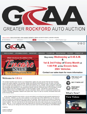 The Greater Rockford Auto Auction is an independent, dealer only auto auction that has been bringing buyers and sellers together in an exciting, friendly and efficient environment for over 40 years.