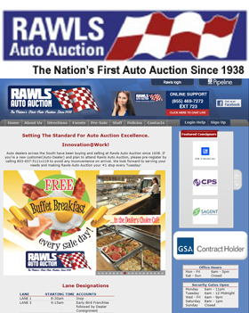 Auto dealers across the South have been buying and selling at Rawls Auto Auction since 1938.