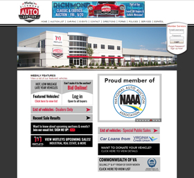 Richmond Auto Auction (RAA) is one of Virginia's largest public and dealer auto auctions.