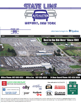 State Line Auto Auction is for registered and licensed dealers only.